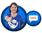 home mensajes texto sms